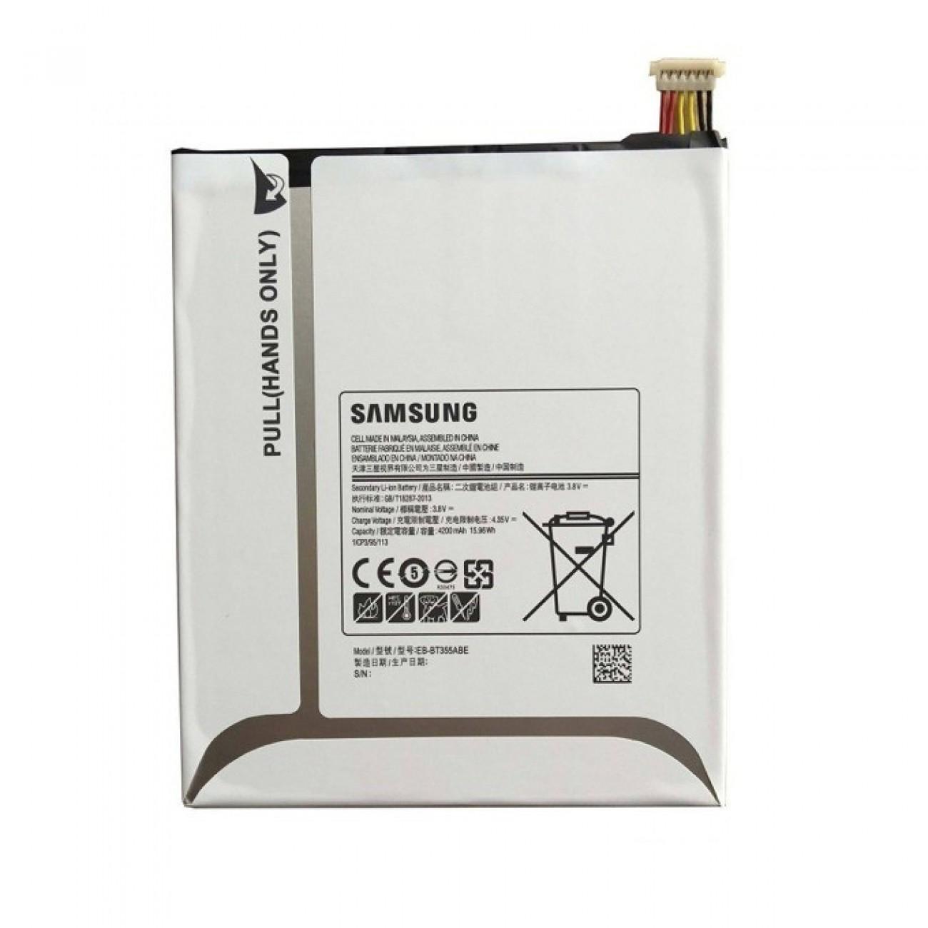 Батерия (оригинална) Samsung EB-BT355ABE, за Samsung Galaxy Tab A 8.0 (SM-T350/SM-T355, 4200mAh/3.8V, Bulk в Батерии за Телефони, Таблети -  | Alleop