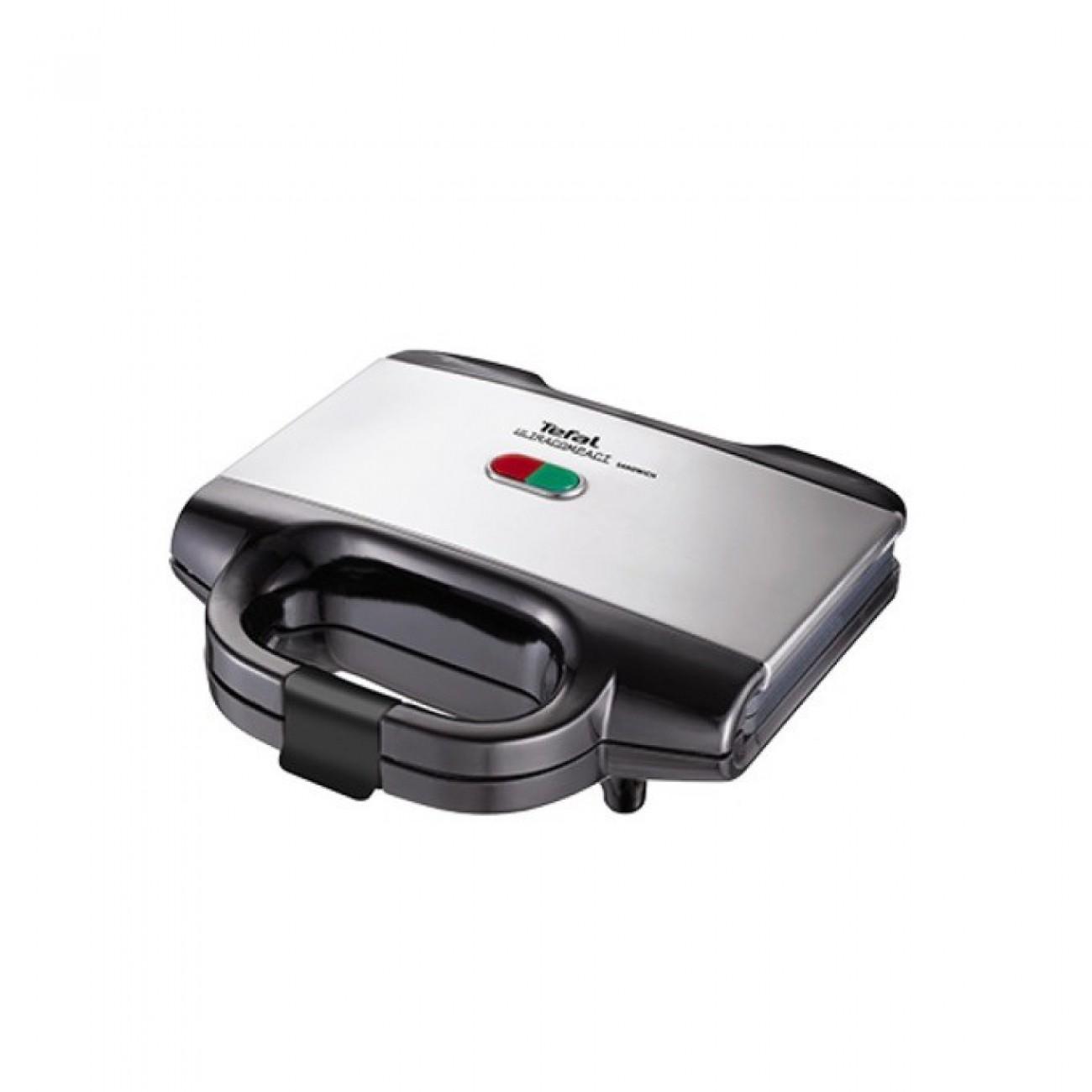 Сандвич скара Tefal SM155233, Ultra Compact Inox, подвижни плочки, 700 W в Сандвич тостери -  | Alleop
