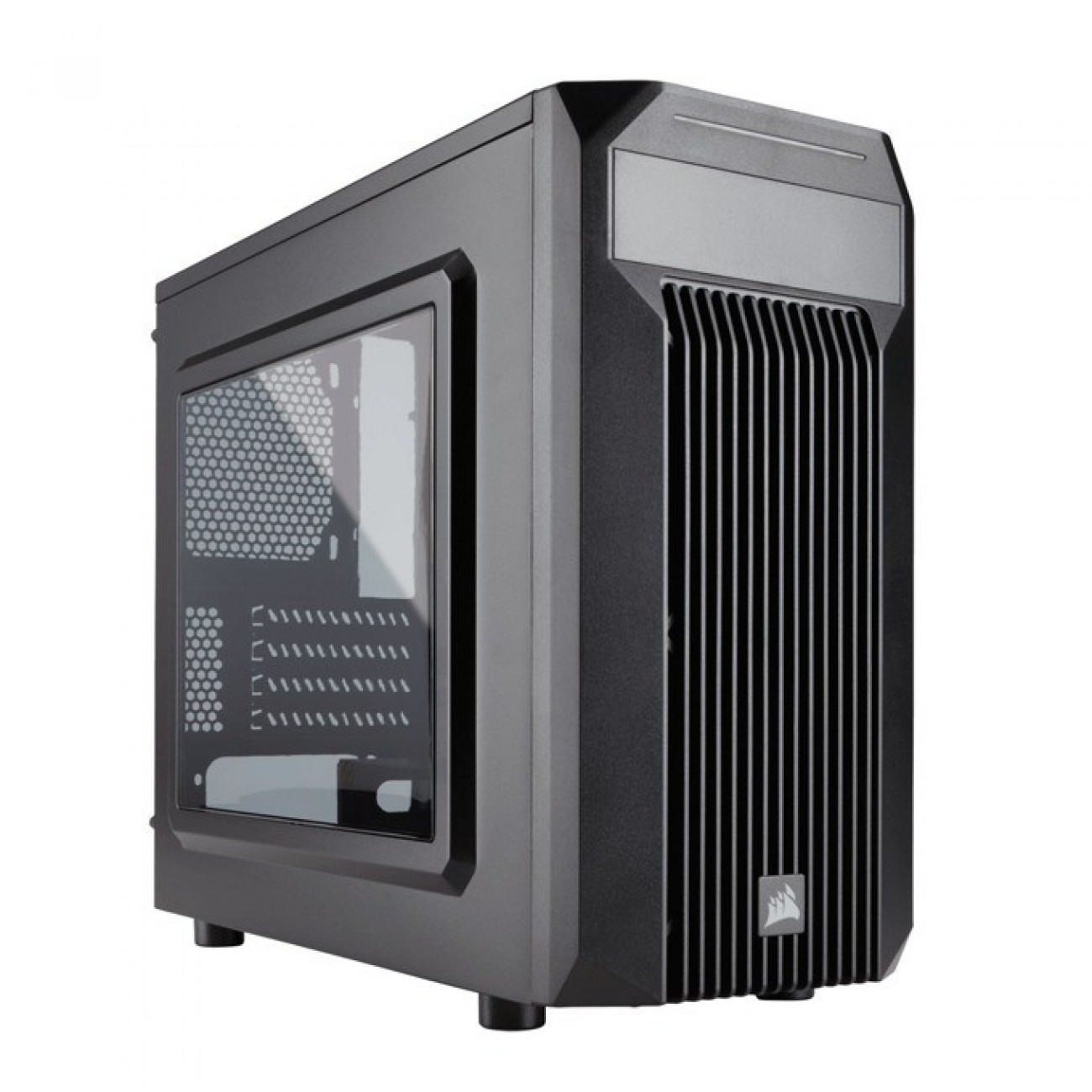 Кутия Corsair Carbide Series SPEC-M2, Mini-ITX/mATX, 1x USB 3.0, прозрачен капак, гейминг, черен, по поръчка в Компютърни кутии -  | Alleop