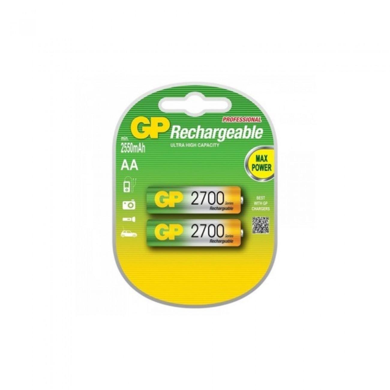 Акумулаторна батерия GP 2700AAHC-2PL2, AA, 1.2V, 2600mAh, NiMH, 2бр. в Стандартни Презареждаеми батерии -  | Alleop