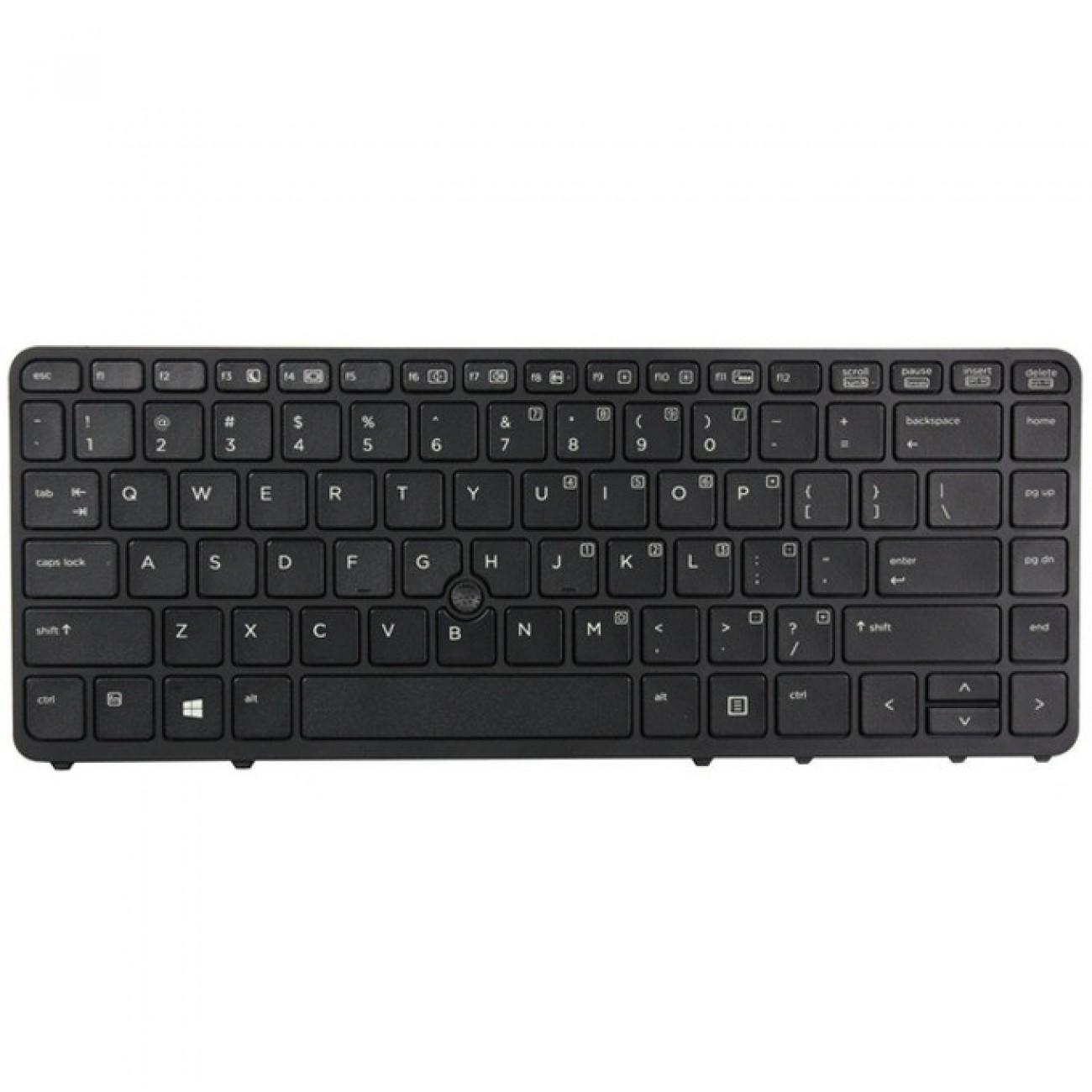 Клавиатура за HP EliteBook 840 G1 850 G1, US, кирилица(бели букви), черна в Резервни части -    Alleop