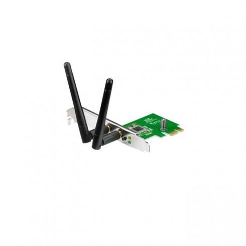 Мрежови адаптер Asus PCE-N15, 300Mbps, Wireless-N/G/B, PCI-E Card в Адаптери за безжични мрежи -  | Alleop