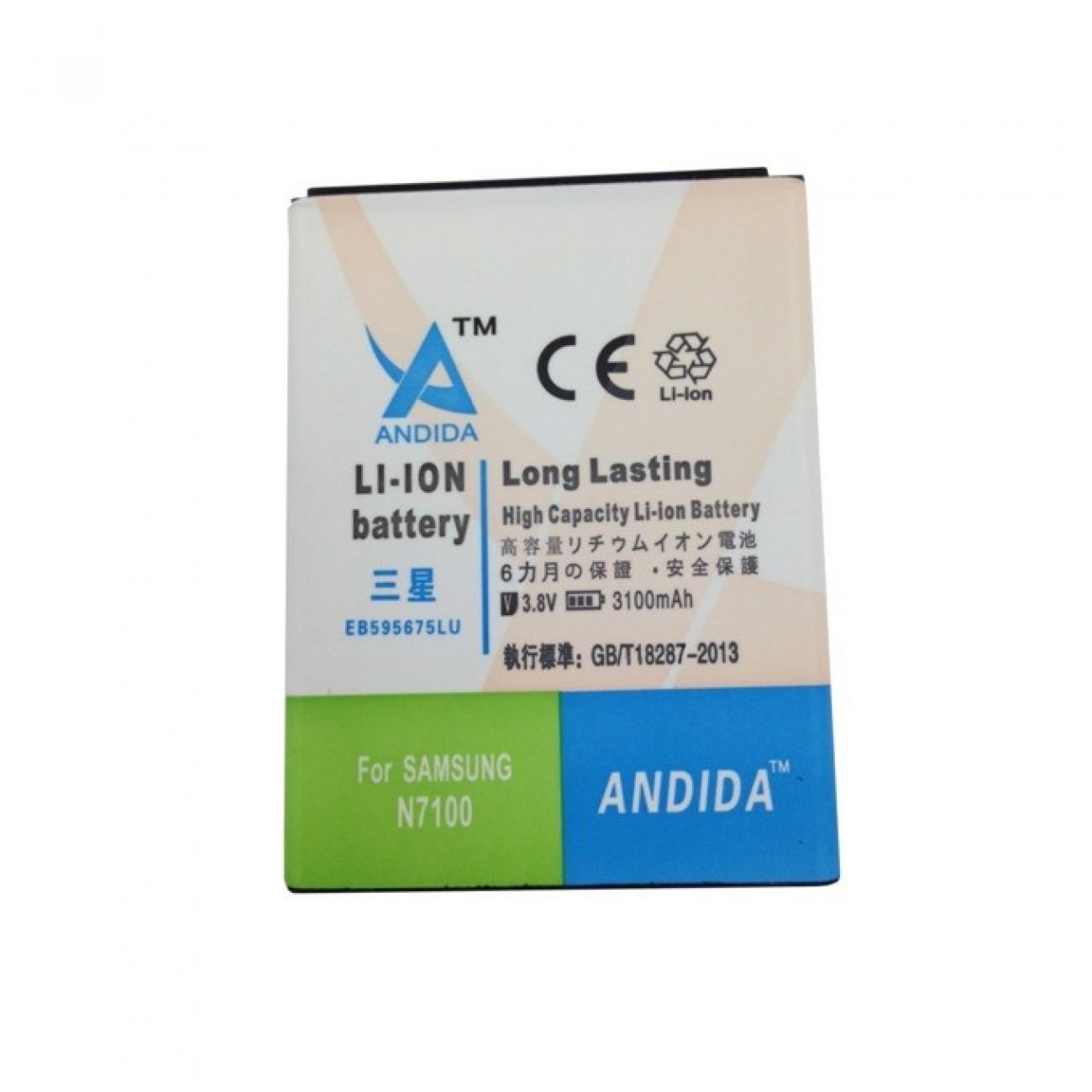 Батерия (заместител) за Samsung Galaxy Note 2(N7100), 3100mAh/3.8V в Батерии за Телефони, Таблети -  | Alleop