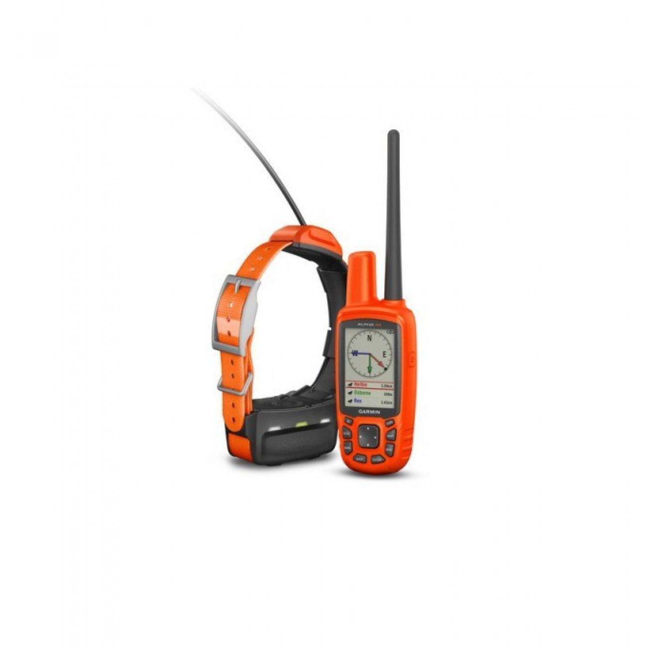 Garmin Alpha 50 Bulgaria с каишка T5, система за проследяване на кучета, обхват до 14км, 2.6(6.60 cm) TFT цветен дисплей, 1.7GB Flash памет(+microSD слот), USB, IPX7 водоустойчивост, базова карта на България и добавяне в GPS Навигатори -  | Alleop