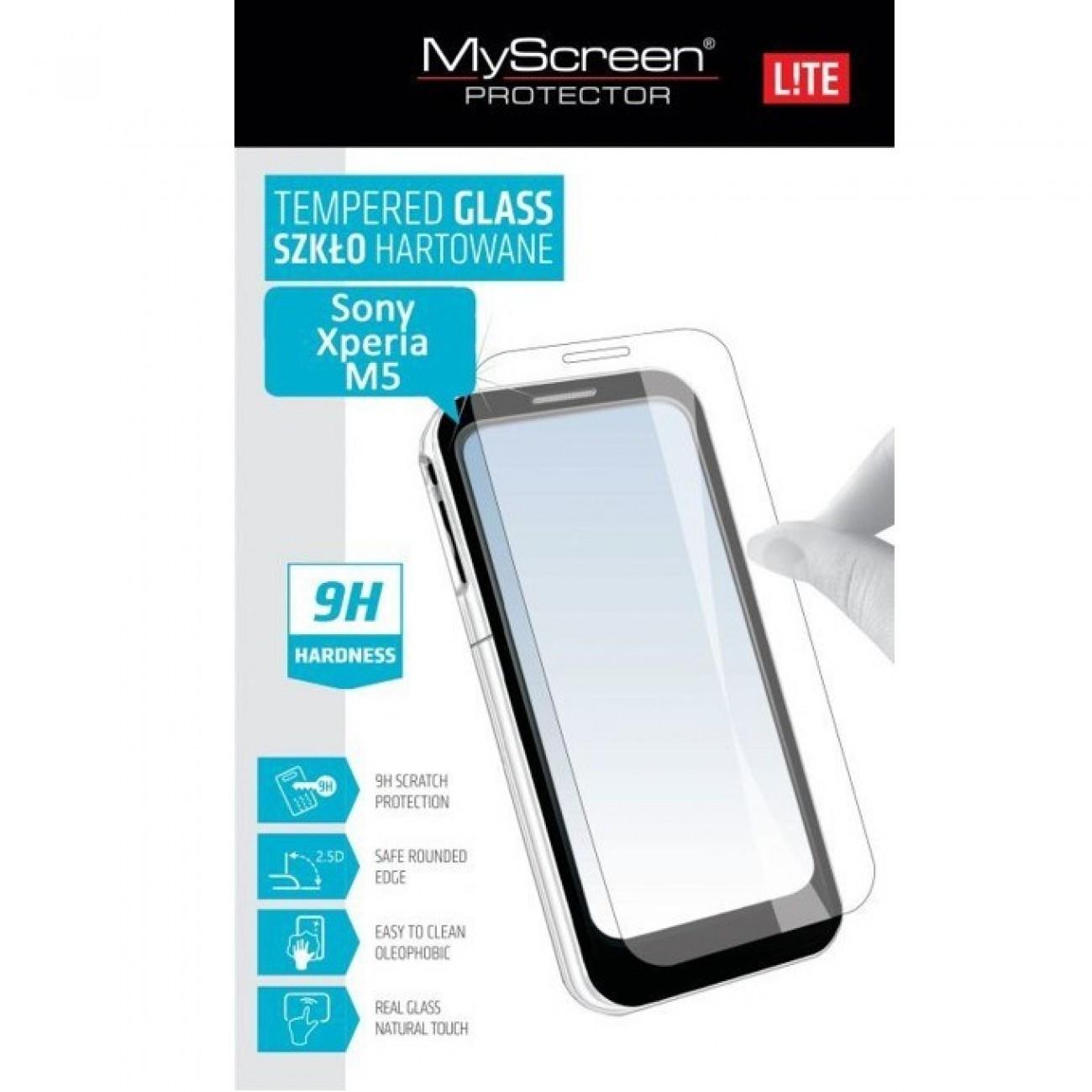 Протектор от закалено стъкло/Tempered Glass/ Lite Glass за Sony Xperia M5, прозрачно в Защитно фолио -  | Alleop