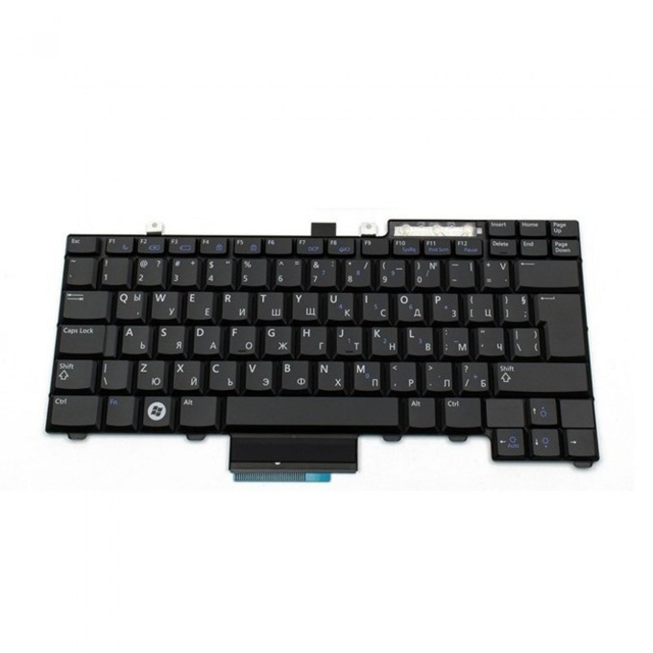 Клавиатура за лаптоп Dell, съвместима със серия Latitude E5400 E5500 E6400 E6500, US/UK, черна, с кирилица в Резервни части -  | Alleop