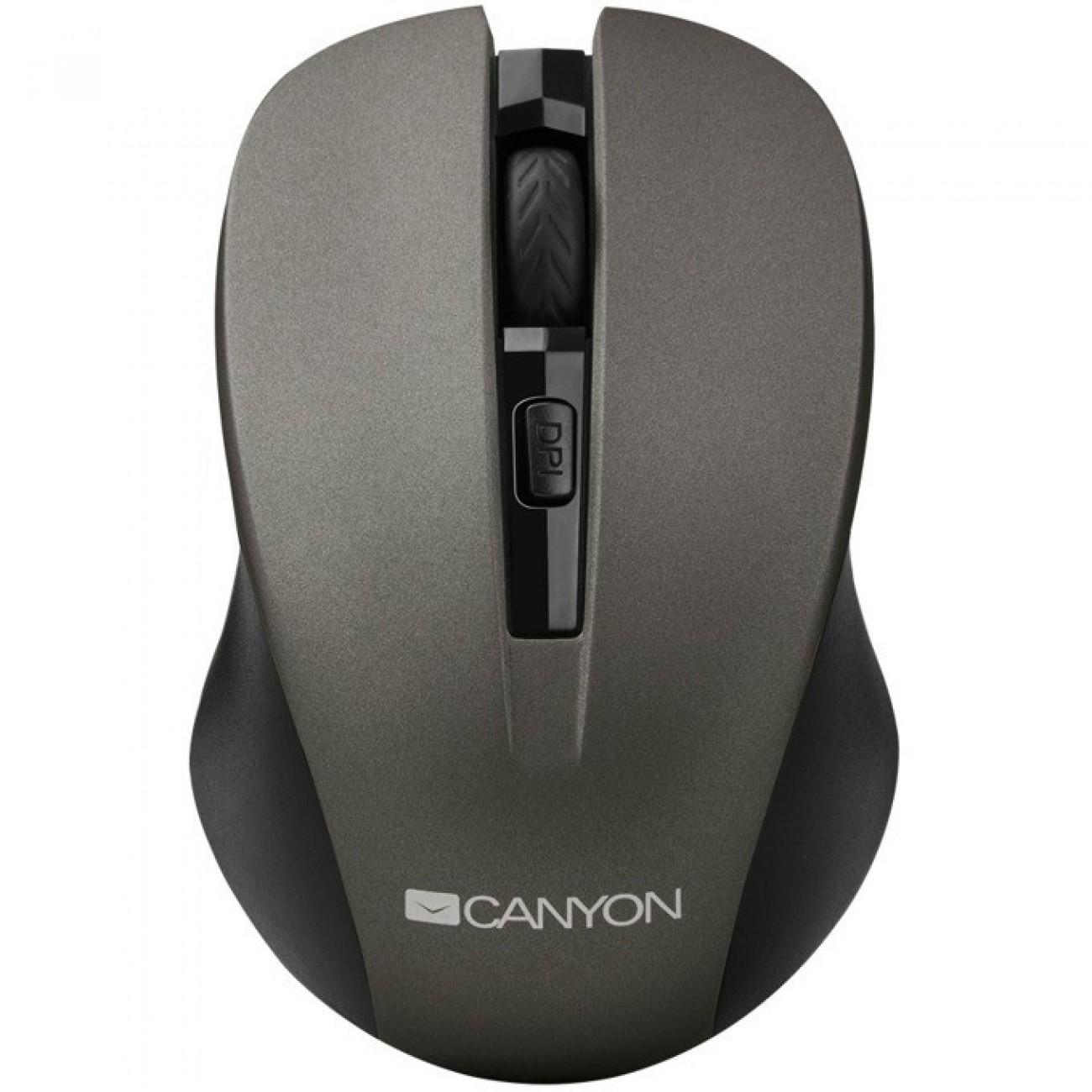 Мишка Canyon CNE-CMSW1, оптична, безжична, 1200dpi, USB, черна в Мишки -  | Alleop