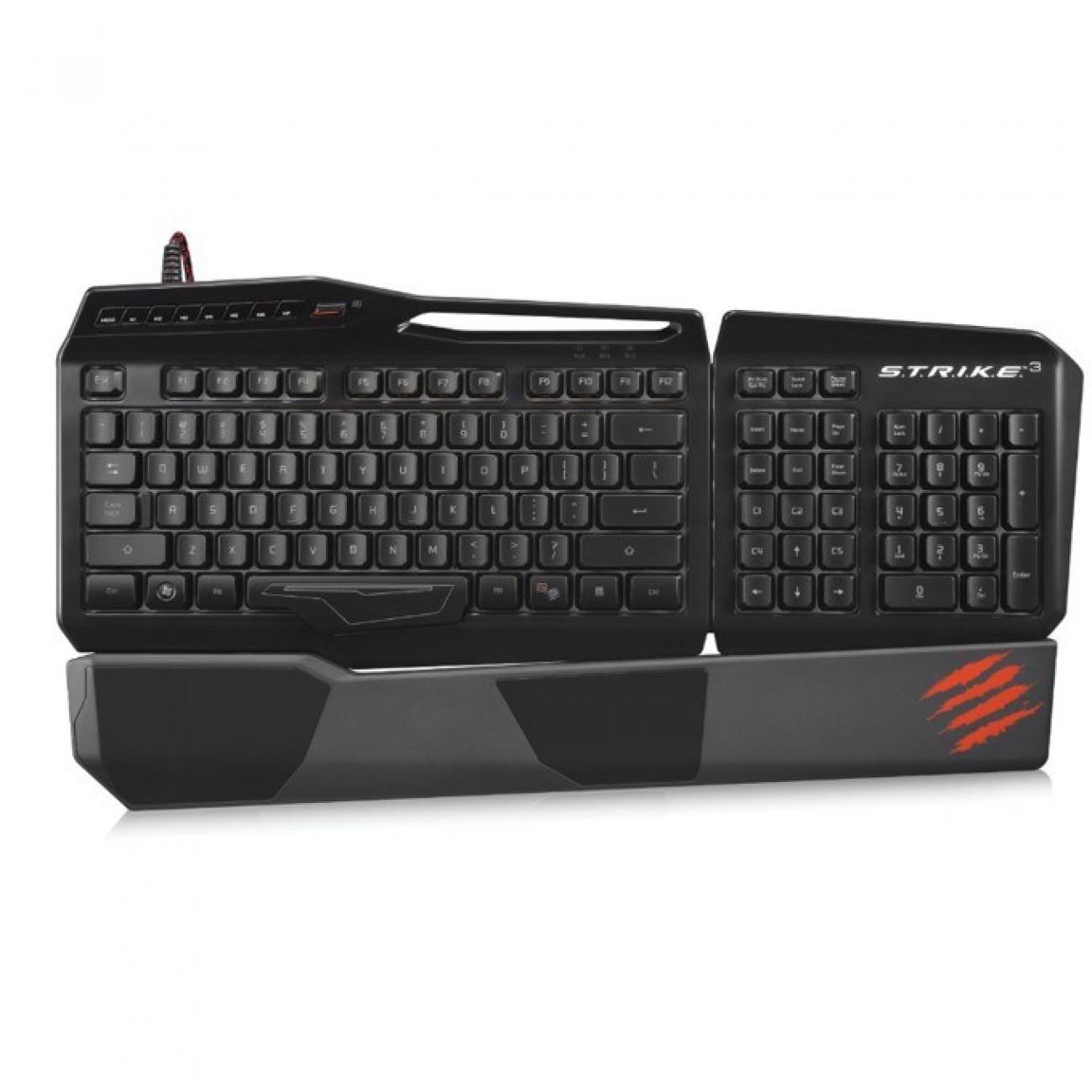 Клавиатура Saitek S.T.R.I.K.E. 3, гейминг, черна в Клавиатури -  | Alleop