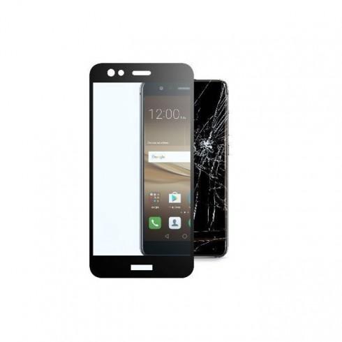 Протектор от закалено стъкло /Tempered Glass/, Cellular Line Second Glass Capsule, за Huawei P10 Lite, прозрачен с черна рамка в Защитно фолио -  | Alleop