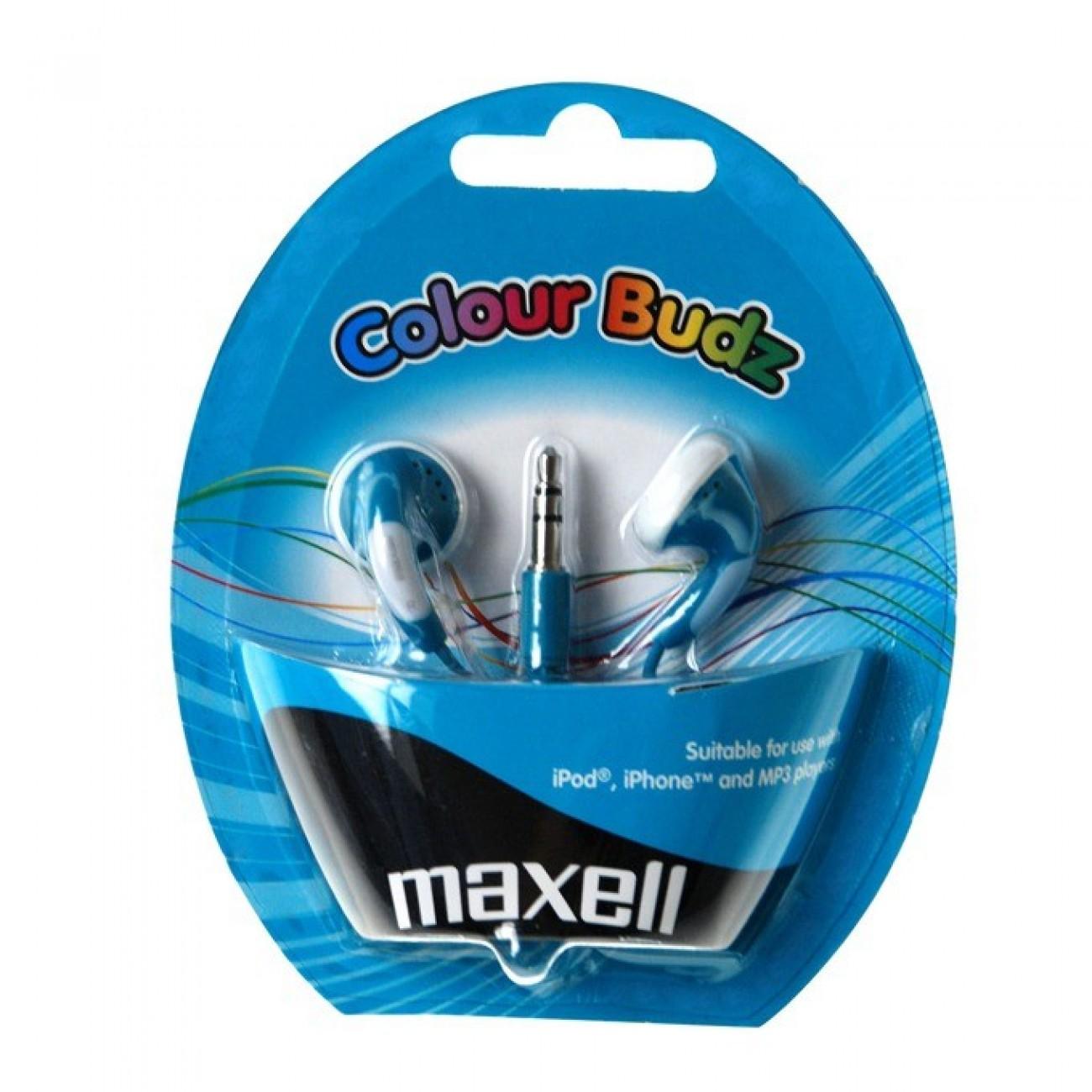 Слушалки MAXELL color BUDS, сини, тапи в Слушалки -    Alleop