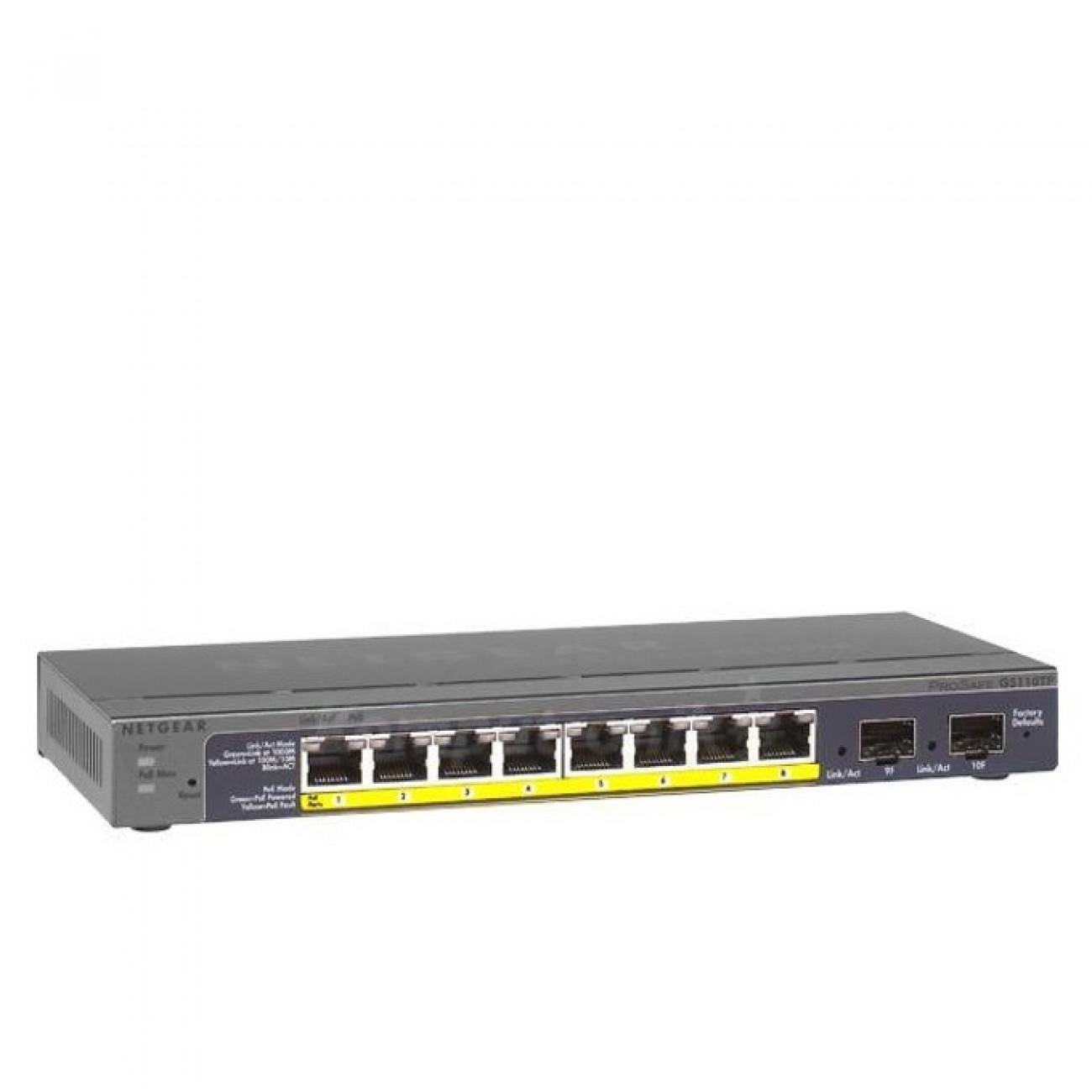 Switch Netgear GS110TP-200EUS, 1000Mbps, 8-Port в Суич -    Alleop