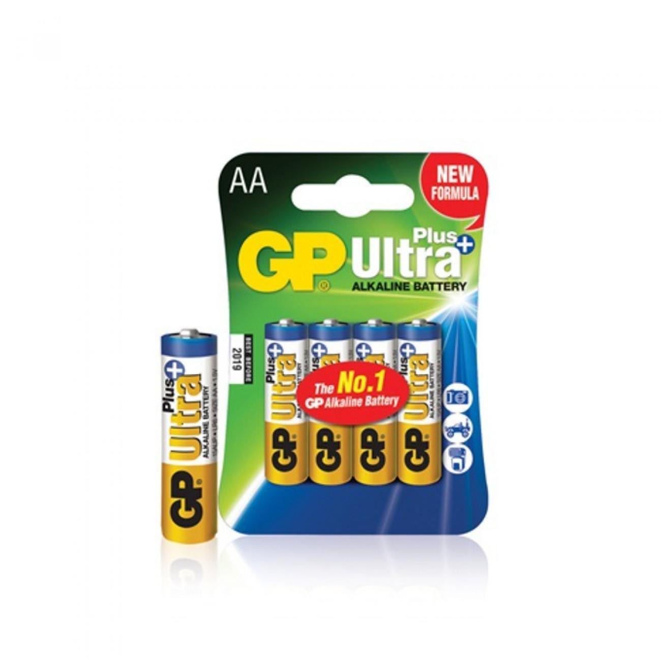 Батерии алкални GP Ultra AA, 1.5V, 4 бр. в Стандартни Еднократни батерии -  | Alleop