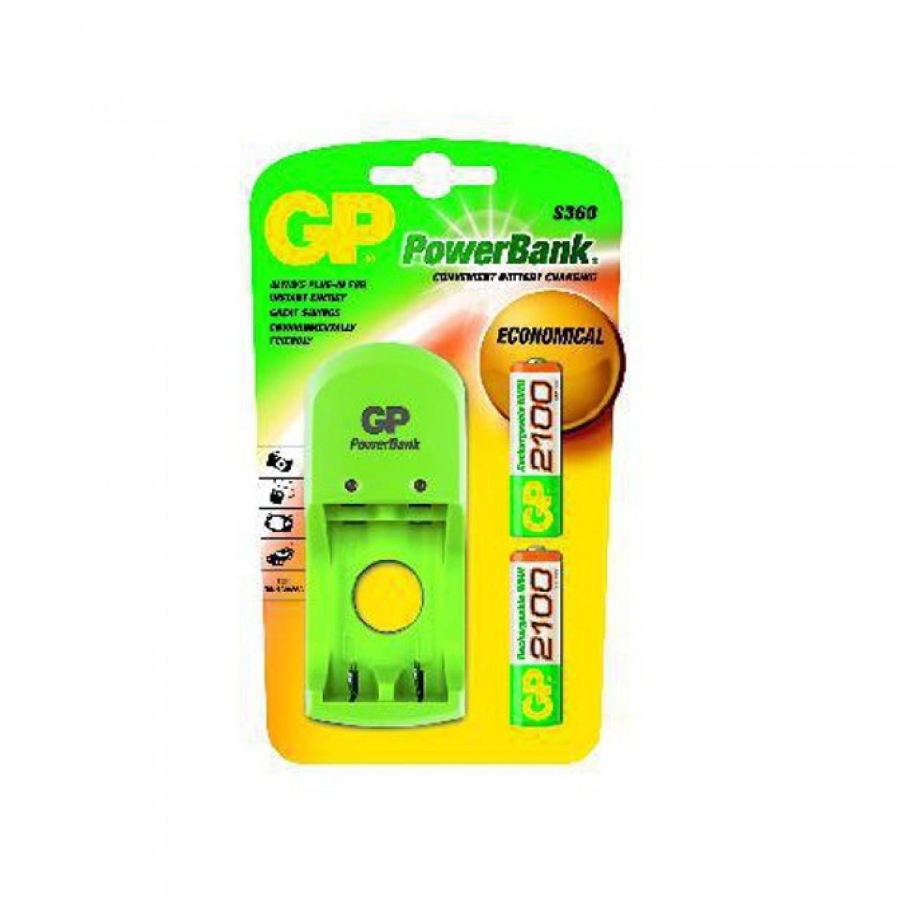 Зарядно у-во GP PB410GS210, за батерии AA/AAA, 2xAA NiMH (2100mAh) батерии в Настолни компютри Процесори -  | Alleop