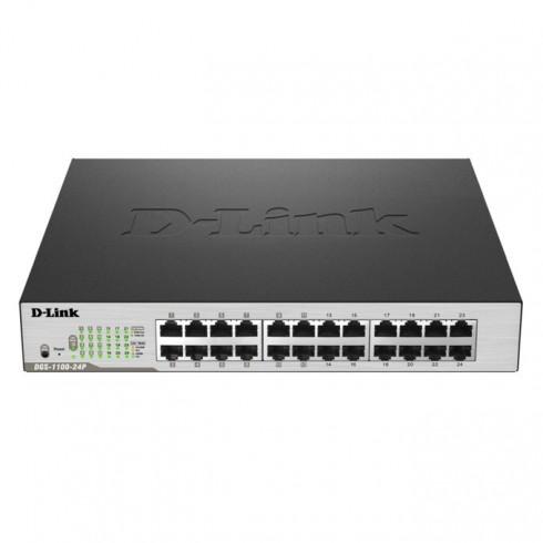 Switch D-Link DGS-1100-24P, 1000Mbps, 24x ports, PoE в Суич -  | Alleop