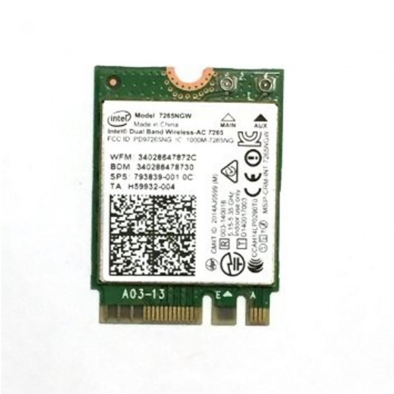 Мрежова карта Intel Dual Band Wireless-AC 7265, 867 Mbps, mini PCI-E в Резервни части -  | Alleop