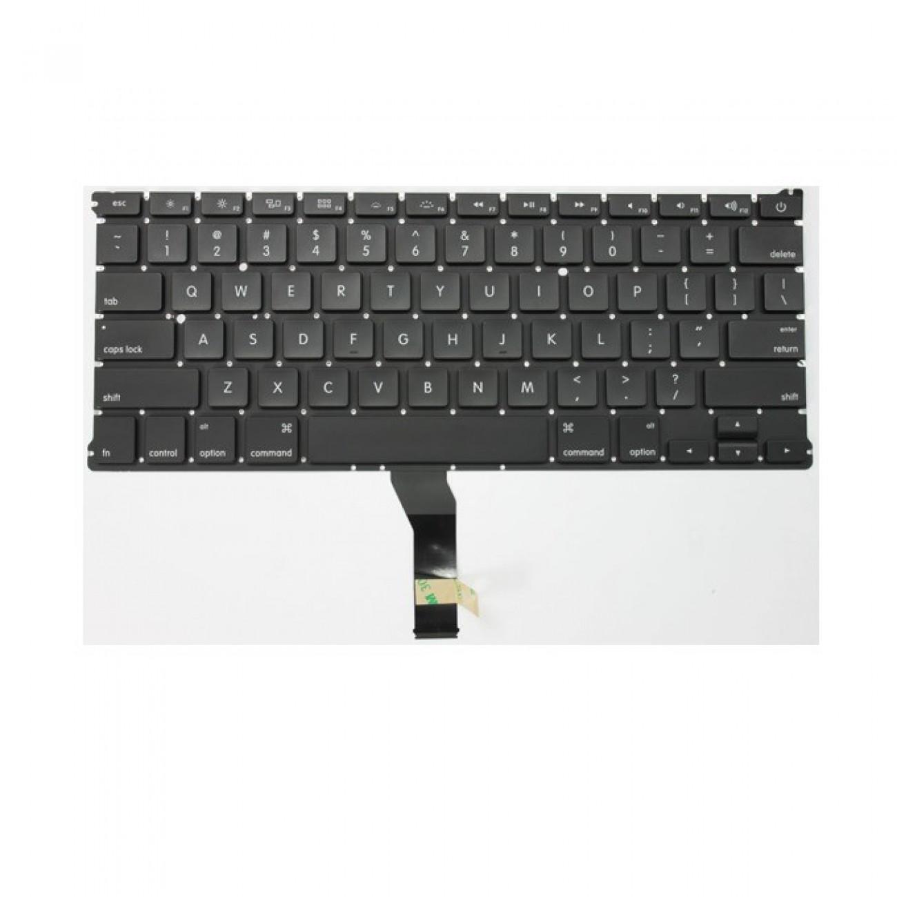 Клавиатура за Apple Macbook AIR A1369 A1466, черна, подсветка, US в Резервни части -  | Alleop