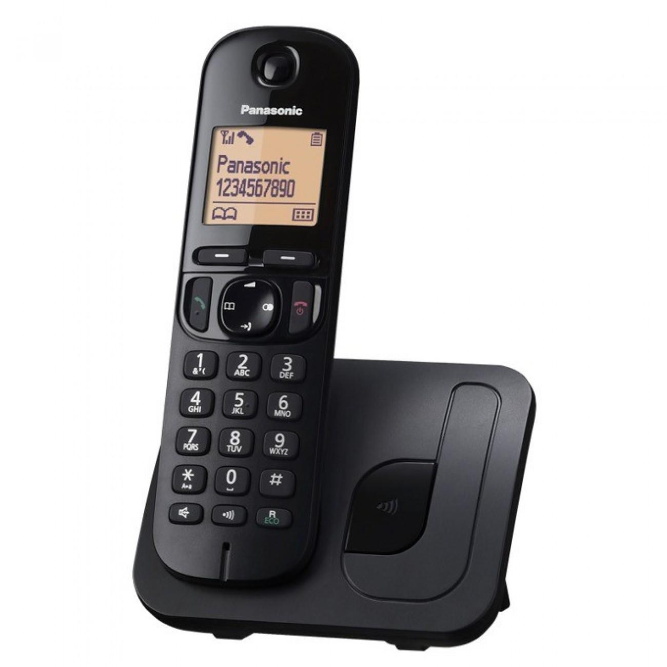 Безжичен телефон Panasonic KX-TGC210 FXB, 1.6(4,06) LCD дисплей, черен в Безжични телефони -  | Alleop