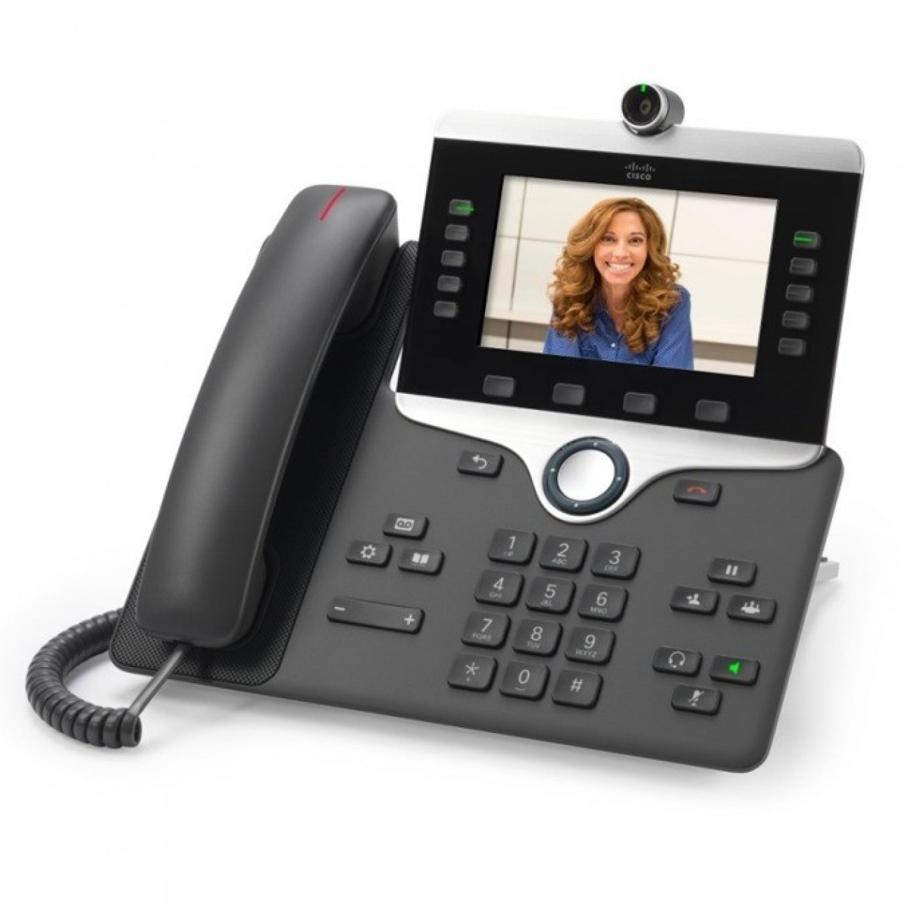 VoIP телефон Cisco IP Phone 8845, 5.0 (12.70 cm) WVGA цветен дисплей, 5 линии, 2x LAN1000, PoE, тъмно сив в VoIP Телефони -  | Alleop
