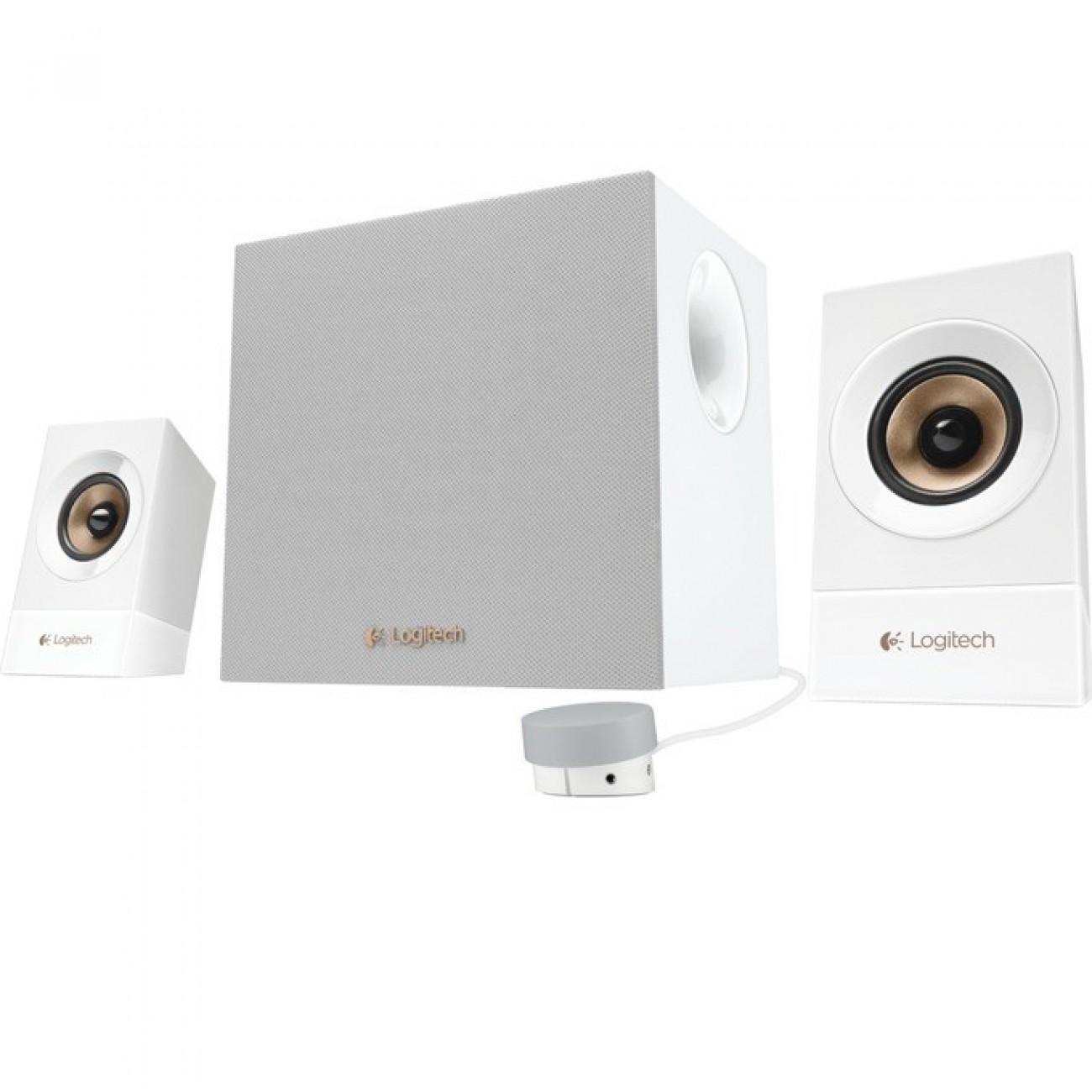 Тонколони Logitech 2.1 Speakers Z533, 60W RMS, RCA, бели в Колони -  | Alleop