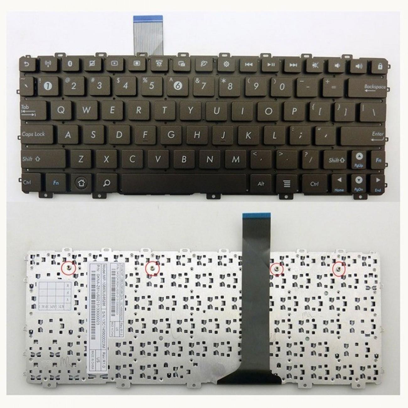 Клавиатура за лаптоп Asus съвместима със серия Eee PC 1015PE, without frame, black, US в Резервни части -  | Alleop