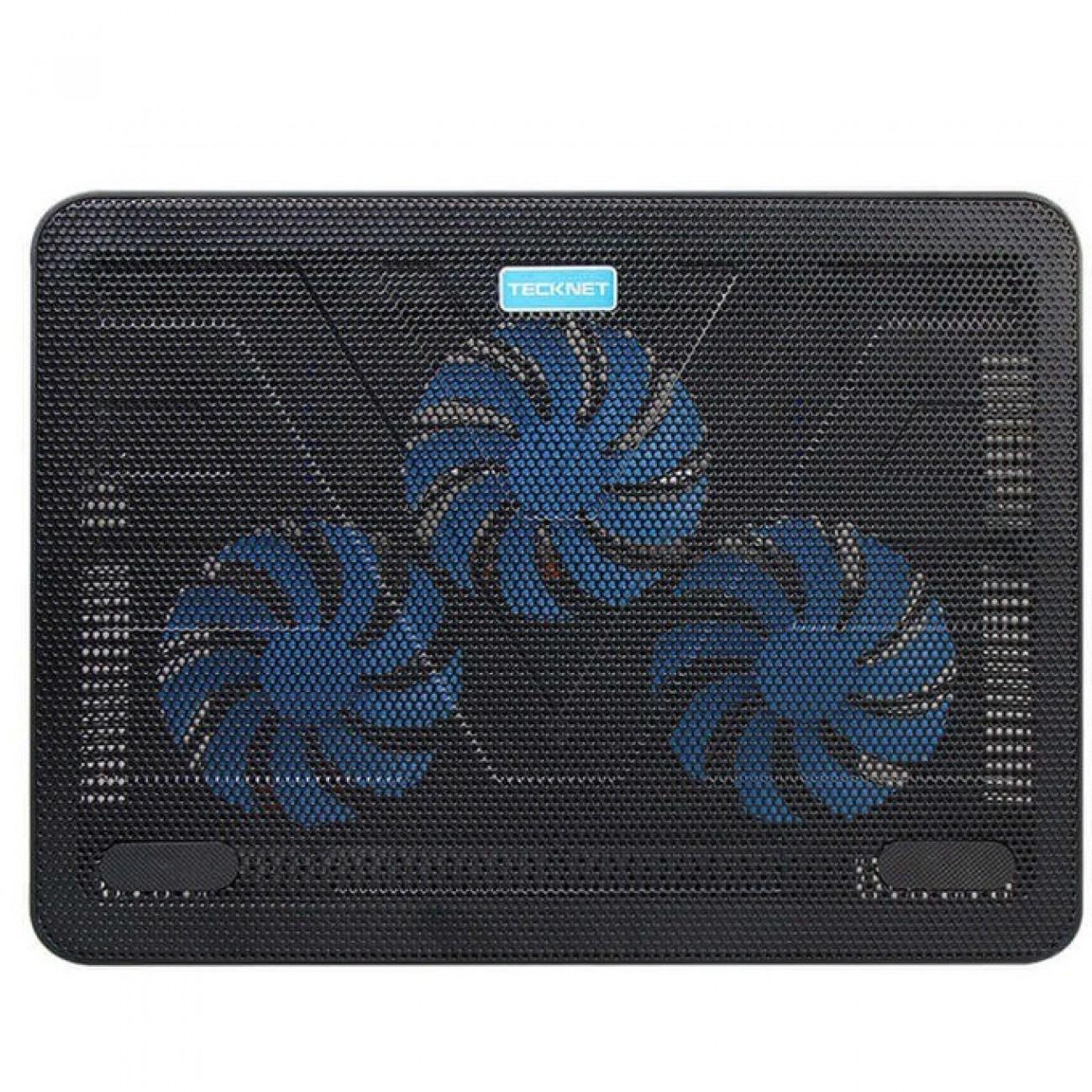 Охлаждаща поставка за лаптоп TeckNet N8 за Mac и преносими компютри, ергономична, 3 големи вентилаторa, черна в Лаптоп Охладители -  | Alleop