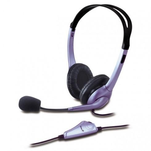 Слушалки Genius HS-04S, микрофон в Слушалки -  | Alleop