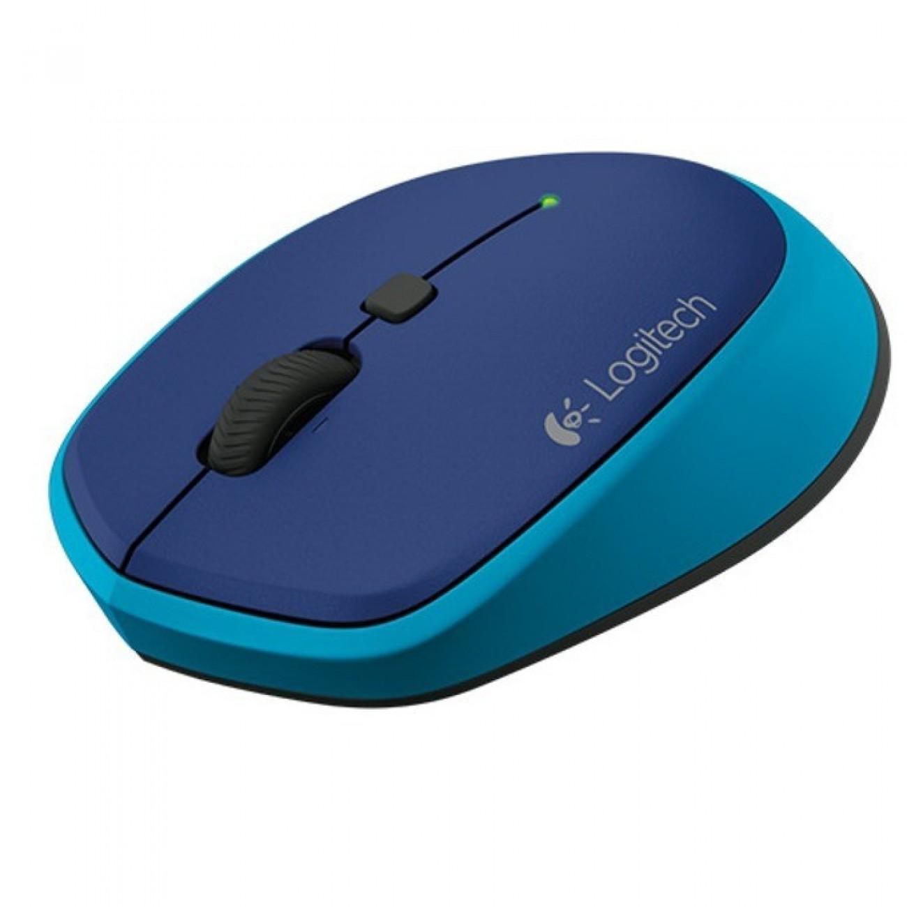 Мишка Logitech M335, оптична (1000 dpi), безжична, синя в Мишки -    Alleop