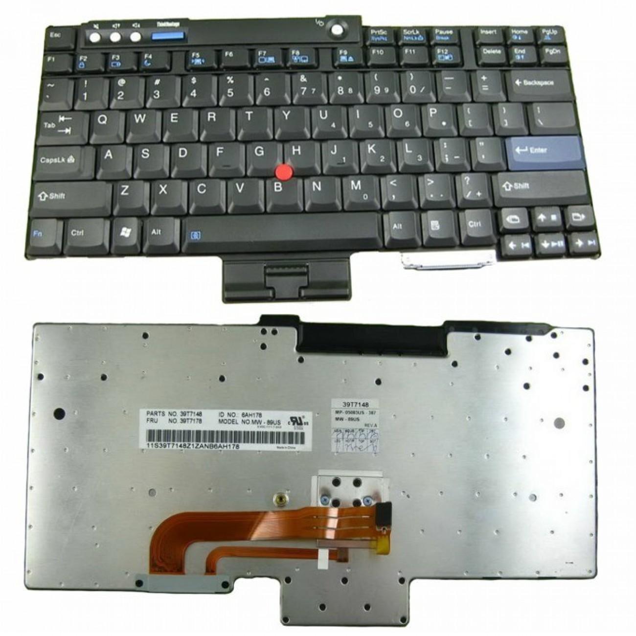 Клавиатура за IBM T60 T61 R60 R61 Z60T Z61T Z60M Z61M R400 R500 T400 T500 W500 в Резервни части -  | Alleop