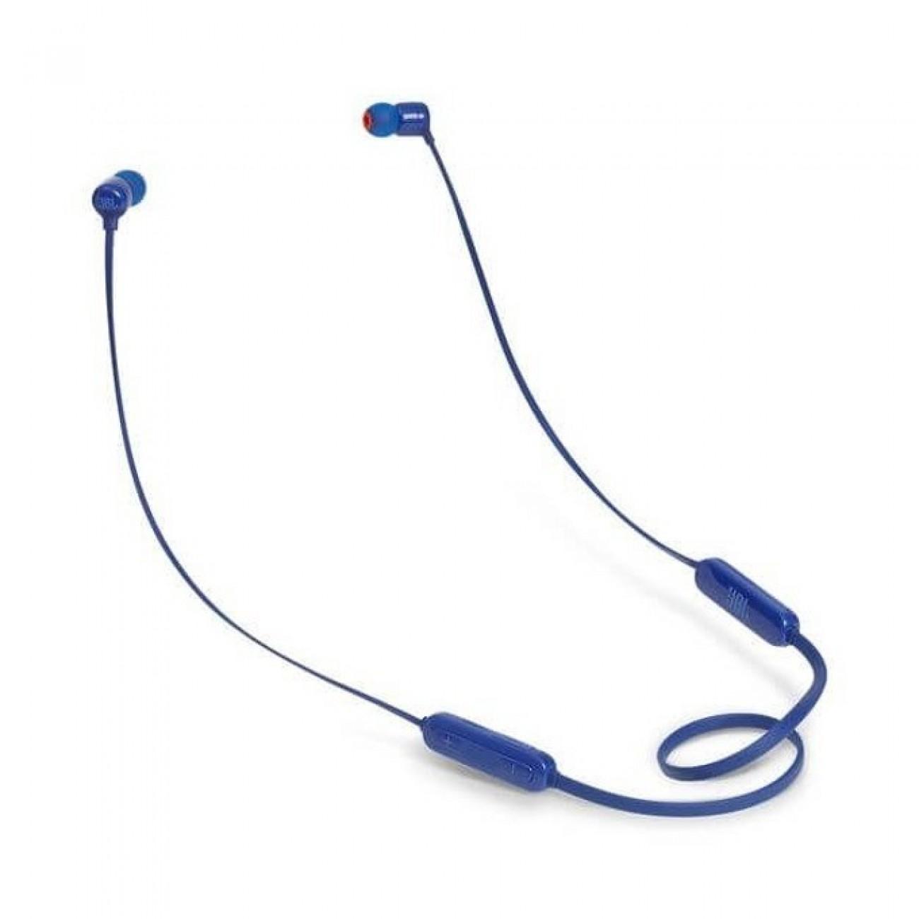 Слушалки JBL T110BT, безжични, тип тапи, микрофон, сини в Слушалки -  | Alleop