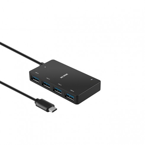 USB Хъб Acme HB530, 4x port USB 3.0, 1x Type C, черен в USB хъбове -  | Alleop