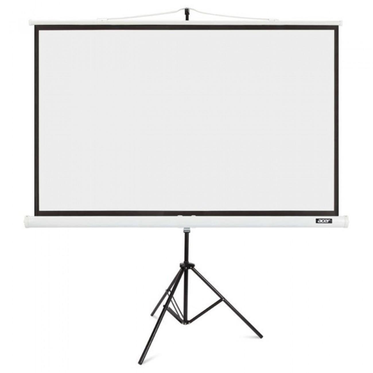 Екран Acer T82-W01MW с алуминиева стойка трипод, 82.5(209.55 cm), 174.0mm x 109.0mm, 16:10 в Екрани за проектори -  | Alleop