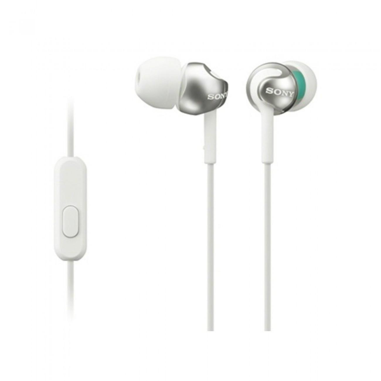 Слушалки MDR-EX110AP, бели в Слушалки -  | Alleop