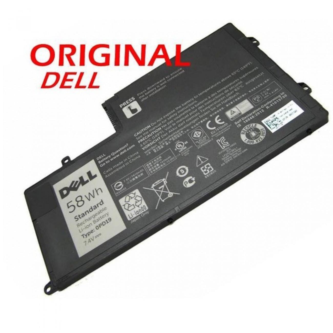 Батерия (оригинална) за Лаптоп DELL Inspiron 3550 0PD19 58DP4, 7.4 V, 7837mAh в Батерии за Лаптоп -  | Alleop
