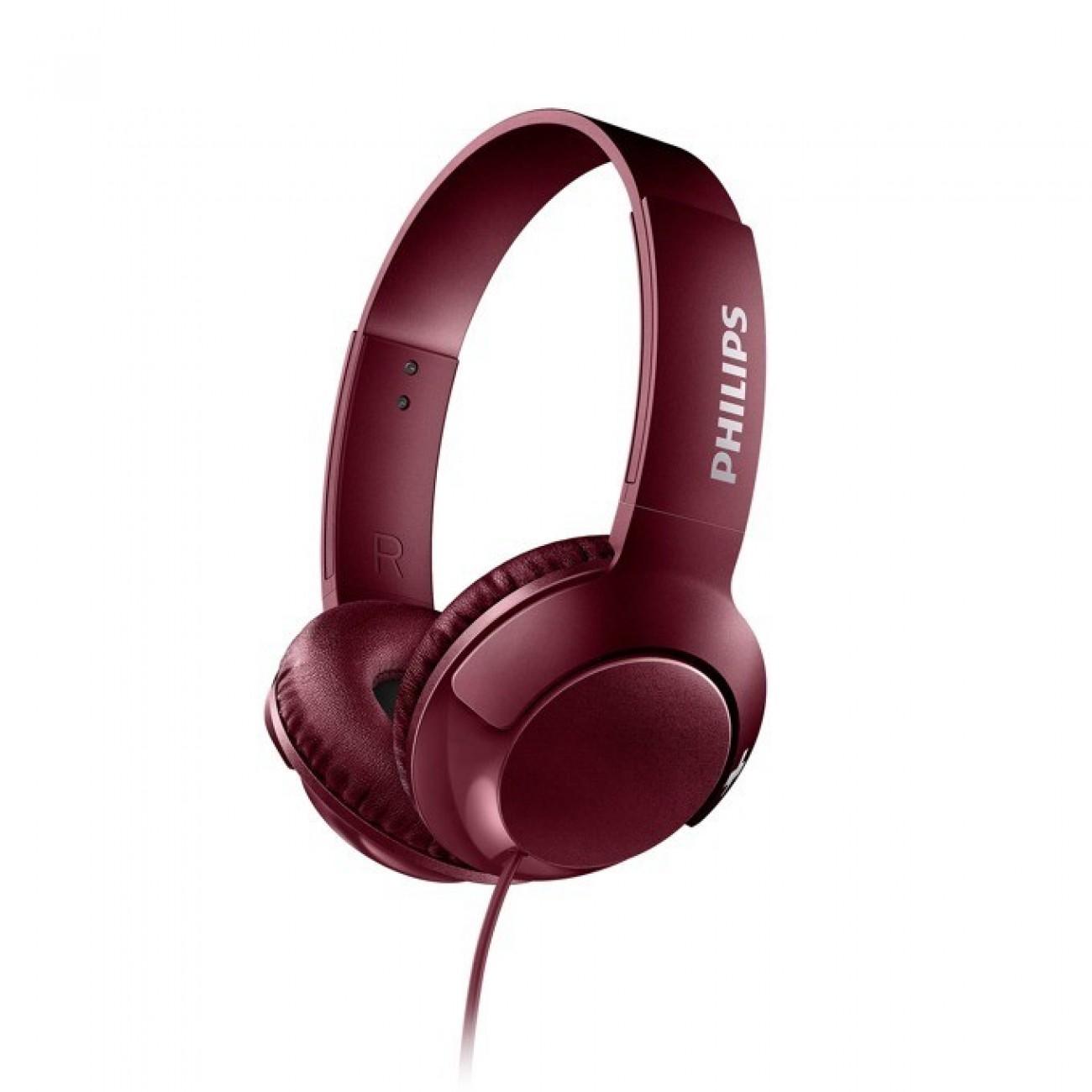 Слушалки Philips SHL3070RD, микрофон, честотен диапазон 9  23 000 Hz, червени в Слушалки -  | Alleop