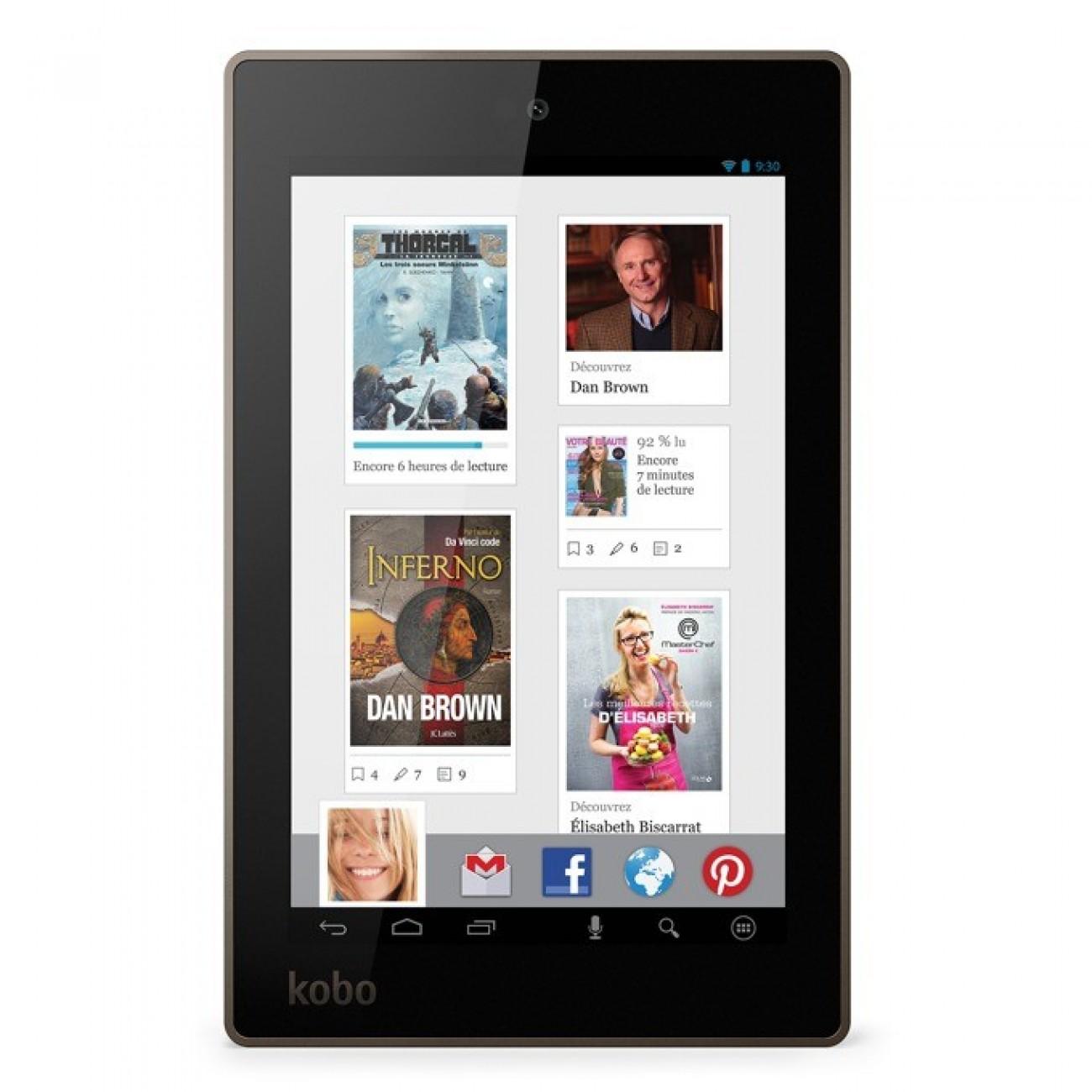 Електронна книга KOBO Arc 7HD, 7 (17.78 cm) HD+ дисплей, четириядрен Nvidia Tegra 3 1.7GHz, 1GB RAM, 16GB Flash памет, 1.3 Mpix camera, Android, 341g в Електронни книги -    Alleop