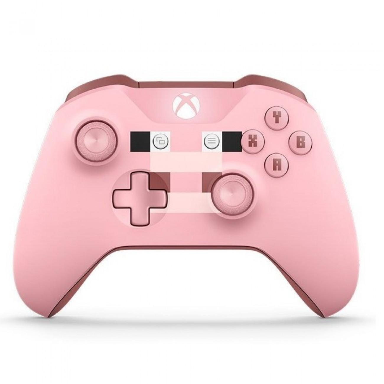 Геймпад Microsoft Xbox One Minecraft Pig, безжичен, розов в Геймпади, Волани, Джойстици -  | Alleop