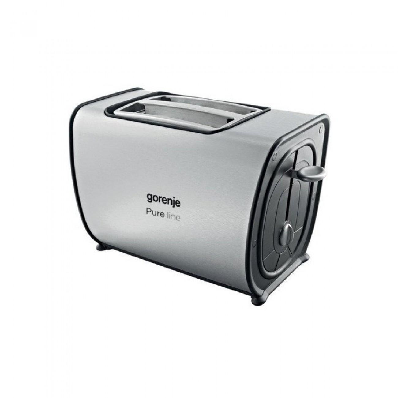 Тостер Gorenje T900E, 6 степени, термостат, осветени бутони, 870W, сребрист в Сандвич тостери -  | Alleop