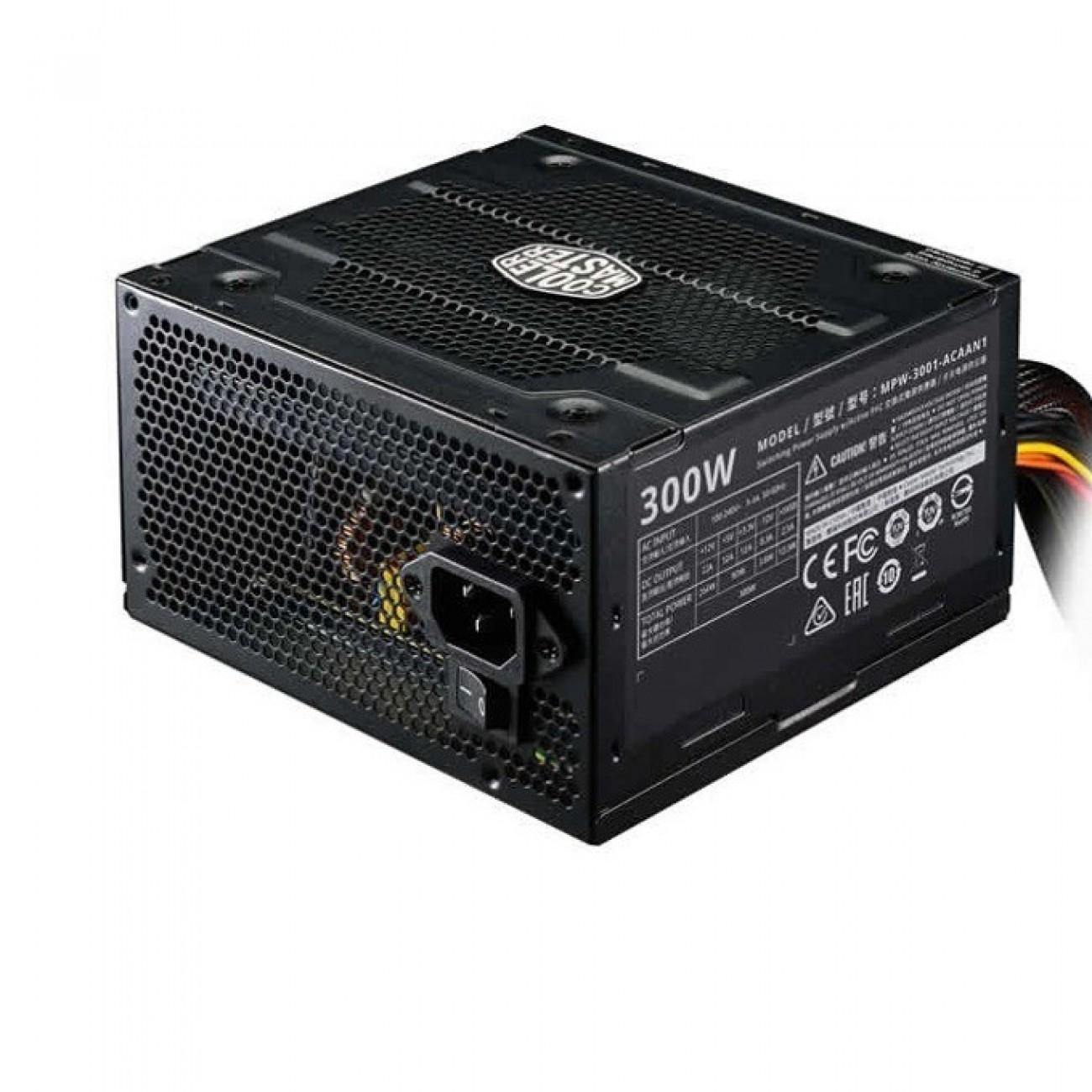 Захранване Cooler Master Elite V3, 300W, Active PFC, 80 Plus efficiency, 120mm вентилатор в Захранвания Настолни компютри -  | Alleop