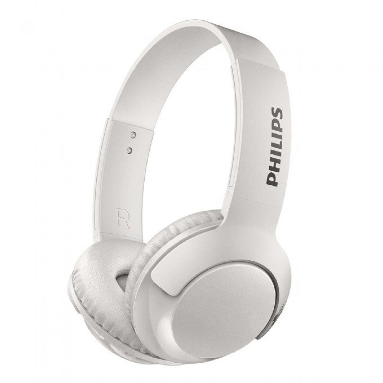 Слушалки Philips SHB3075WT, микрофон, Bluetooth, честотен диапазон 9  21 000 Hz, бели в Слушалки -    Alleop
