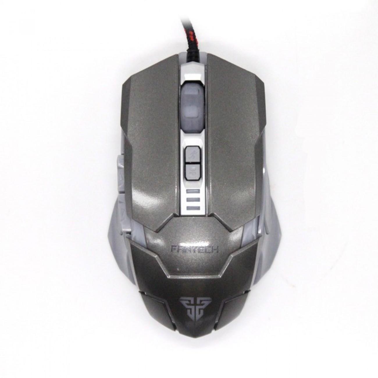 Мишка FanTech Z2 Batrider, оптична(3200 DPI), USB, сива, гейминг в Мишки -    Alleop