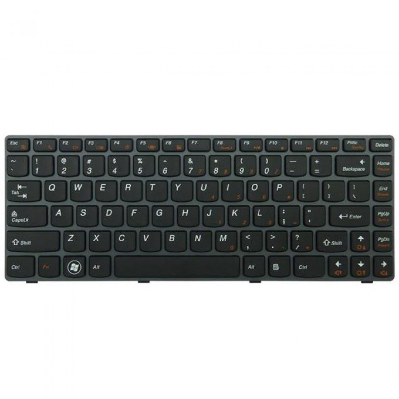 Клавиатура за Lenovo Ideapad V370, US, сива рамка, черна в Резервни части -  | Alleop
