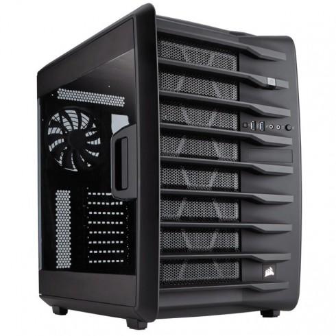 Mini-ITX/mATX/ATX (Up to 272mm), Corsair Carbide Series Air 740, 2x USB 3.0, прозрачен капак, черен, без захранване, по поръчка в Компютърни кутии -    Alleop