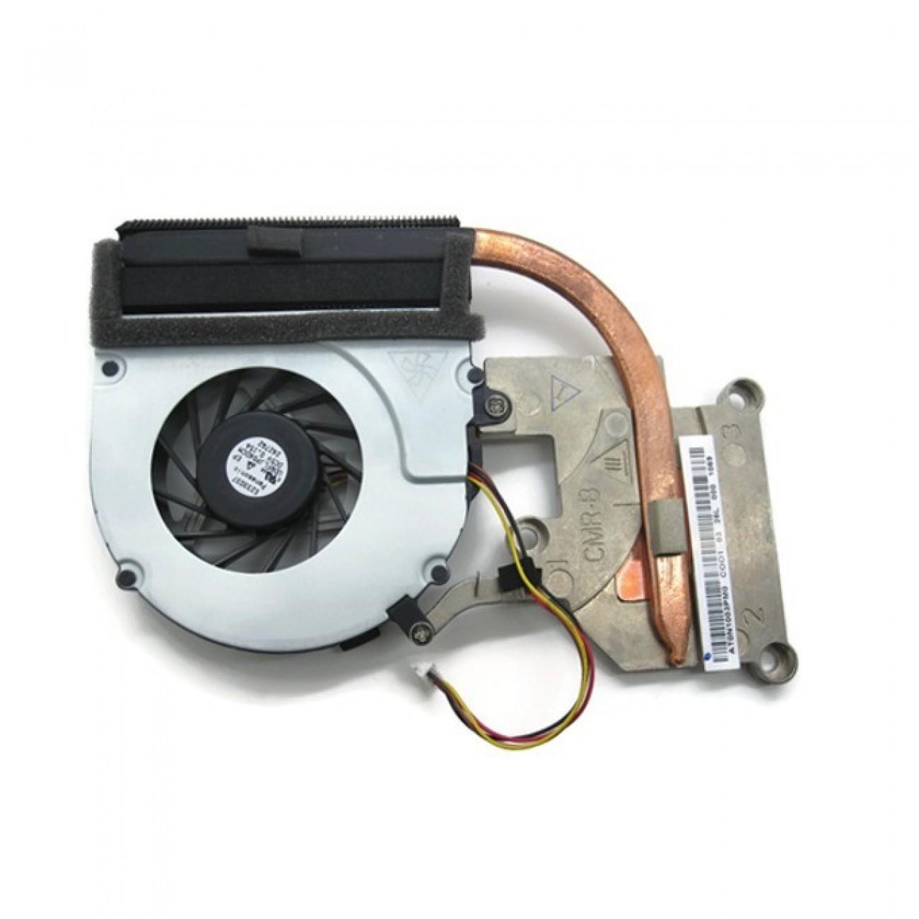 Вентилатор + HeatSink за лаптоп, съвместим Lenovo IdeaPad G580 (За модели с вградено видео) TYPE 2 в Резервни части -  | Alleop
