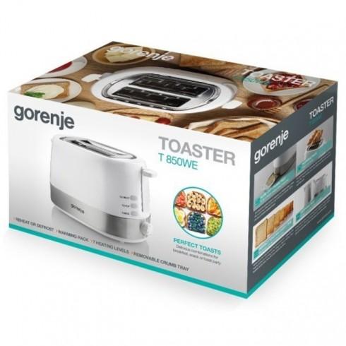 Тостер Gorenje T850WE, 7 степени на затопляне, Термостат, Автоматично изхвърляне, 720W, бял в Сандвич тостери -  | Alleop