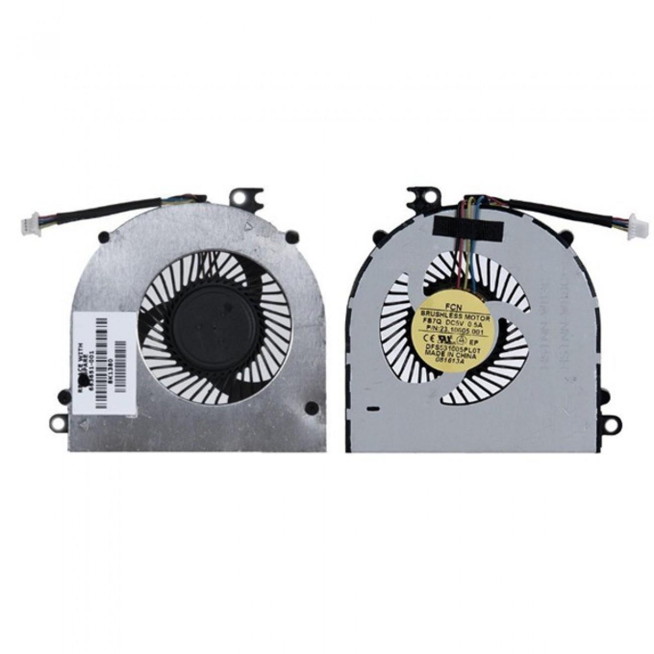 Вентилатор за лаптоп, съвместим с HP 4440s 4441s 4445s 4446s ProBook 4440s 4441s 4445s в Резервни части -  | Alleop