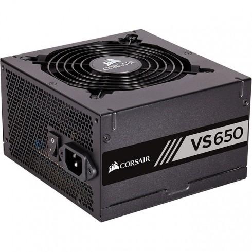 Захранване Corsair VS650, 650W, Active PFC, 80 Plus efficiency White, 120mm вентилатор в Захранвания Настолни компютри -  | Alleop