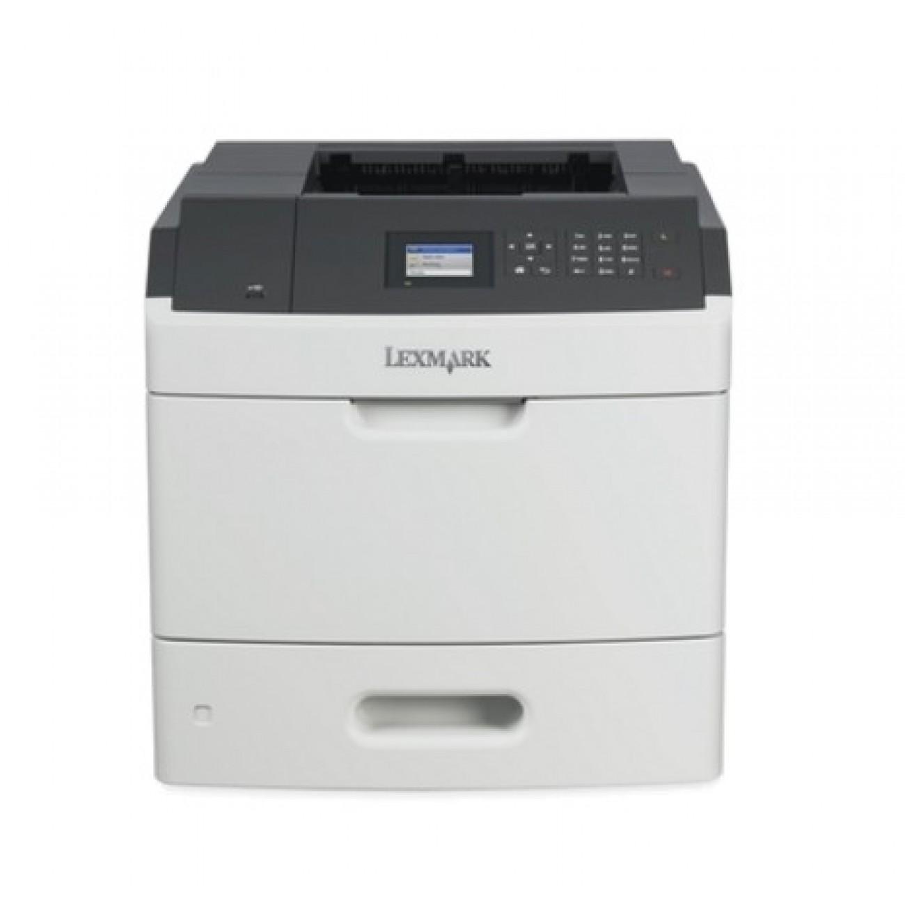 Лазерен принтер Lexmark MS817dn, монохромен, 1200 x 1200 dpi, До 52 стр/мин, LAN1000, USB, А4 в Принтери -  | Alleop