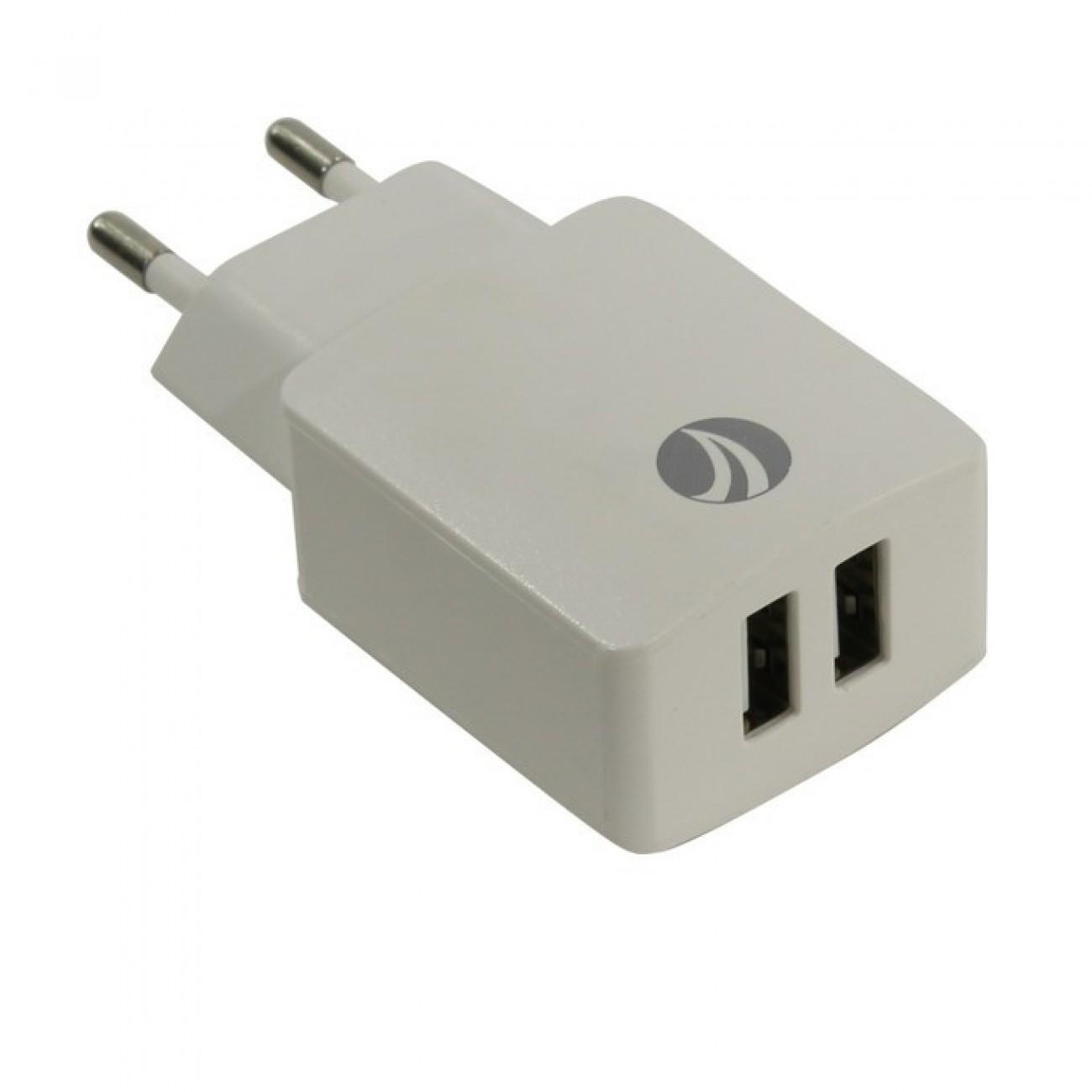 Зарядно за стена VCom Charger AC / 2A 2xUSB, бяло в Перални и Сушилни -  | Alleop