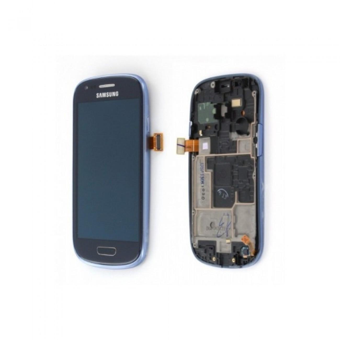 Дисплей за Samsung Galaxy i8190 S3 Mini, LCD with touch and frame, син в Резервни части -  | Alleop