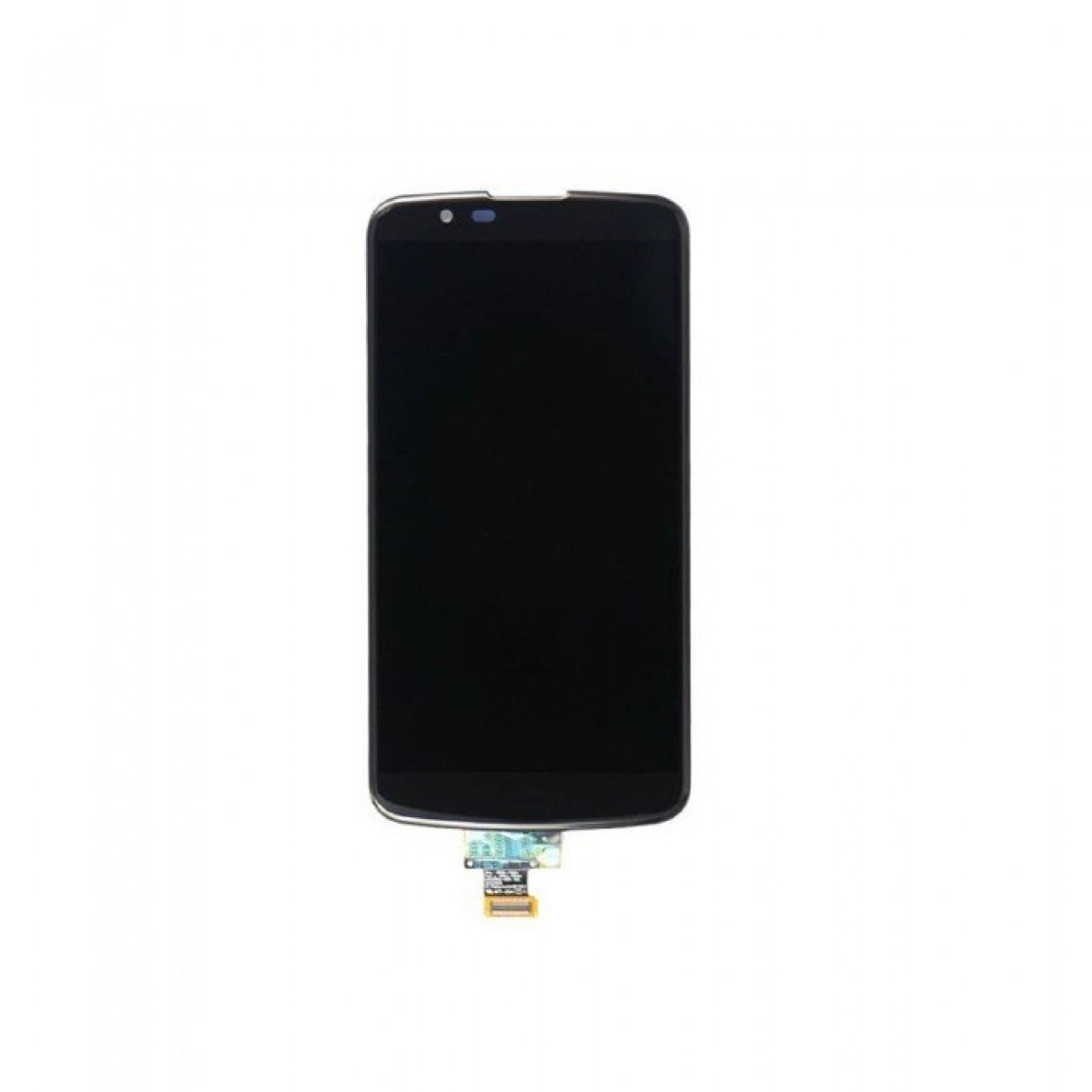 Дисплей зa LG K8 (K350N), LCD Original, touch, черен в Резервни части -    Alleop